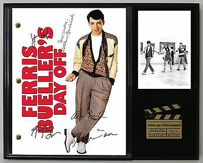 Ferris Bueller's Day Off Reprint Autograph Movie Script Display USA Ships Free