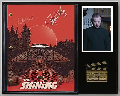 The Shining - Reprinted Autograph Movie Script Display - USA Ships Free Priority
