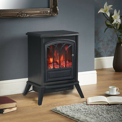 Clevr 1400w Freestanding Electric Fireplace Heater 3D Flame up to 800 Sq Ft