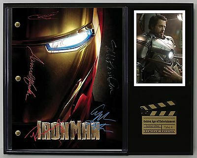 Iron Man - Autographed Reprinted Movie Script Display - USA Ships Free