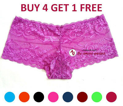 Ladies lace panties Boyleg Briefs Knickers Lingerie Boyshorts Plus size AU 8-20
