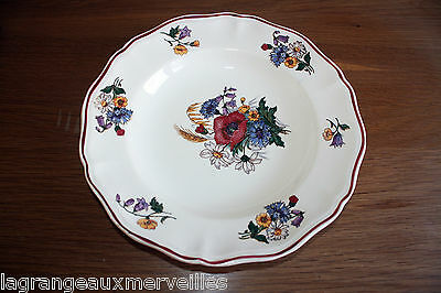 Assiette plat Sarreguemines France Agreste