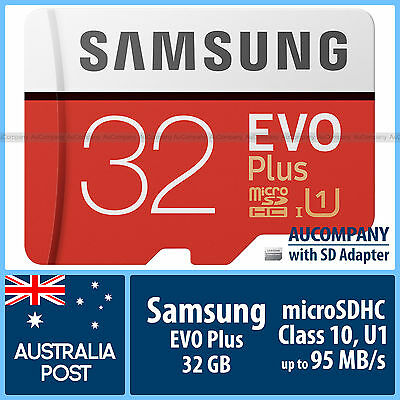 Samsung 32 GB 32G micro SD SDHC EVO Plus 80MB/s Class 10 TF Memory Card Adapter