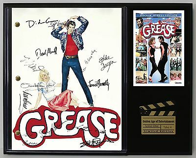Grease - Reprinted Autograph Movie Script Display - USA Ships Free