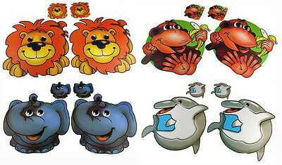 Kids Place Mat & Coaster Sets Easy Wipe Clean - Choice Of 4 Fun Animal Designs