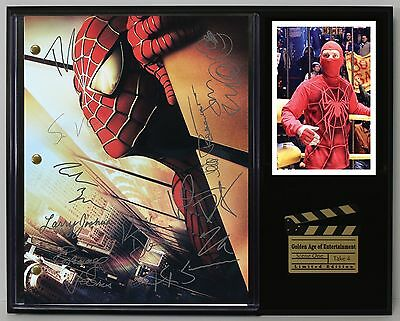 Spider-Man - Reprinted Autograph  Movie Script Display - USA Ships Free
