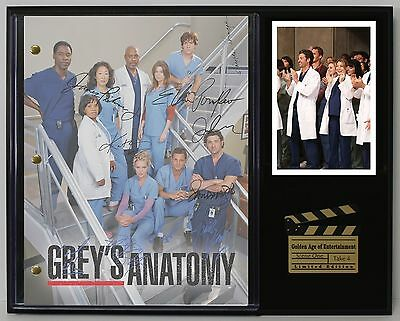 Grey's Anatomy - Reprinted Autograph Television Script Display - USA Ships Free