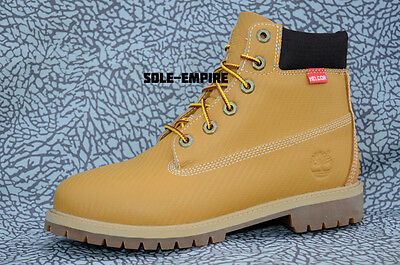 Timberland 6 Inch Premium Wheat Kids GS 9593R Helcore Scuff Double Sole New 6""