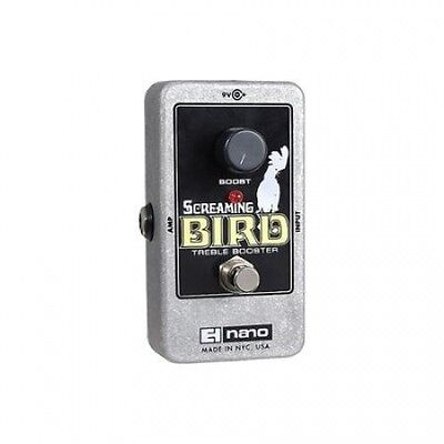 Electro-Harmonix Screaming Bird Treble Booster Guitar Effects Pedal. Free Delive