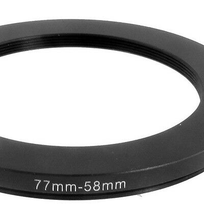 LWUS New 77mm-58mm 77mm to 58mm Black Step Down Ring Adapter for Camera