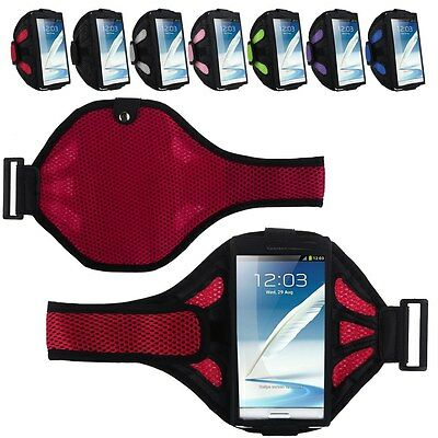 Mesh Jogging GYM Sport Armband Holder Arm Strap Pouch Case for Samsung Galaxy