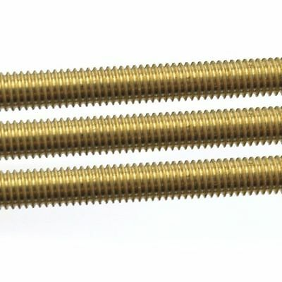 1X Brass Threaded Rod Brass Screw Rod Full-Threaded M2 2.5 3 4 5 6 8 10 12 14 16