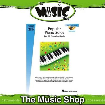 New HLSPL Popular Piano Solos Level 1 Music Book & CD - 2nd Edition