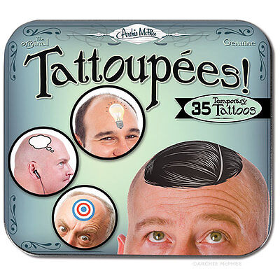 Tattoupees - Temporary Tattoos for a Bald Head -  35 Tattoos