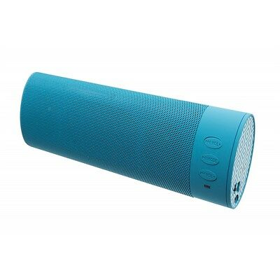 Kitsound Portable Rechargeable Stereo Bluetooth Sound System Speaker Turquoise