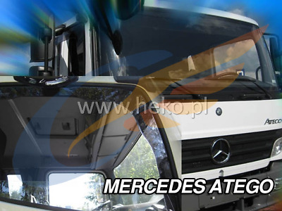 MERCEDES ATEGO 1998 - 2013 2-pc wind deflectors HEKO Tinted