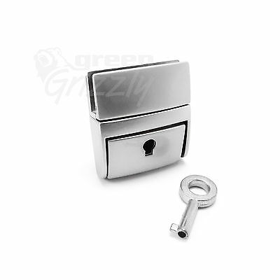 Bag Closure Catch Tuck Lock with a key Clasp Fasteners Leather Craft Metal B26