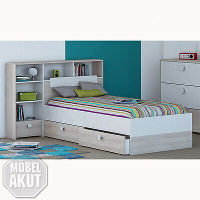 kojenbett einzelbett bett 90x200 schubk sten kinderzimmer. Black Bedroom Furniture Sets. Home Design Ideas