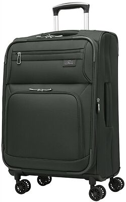 """Skyway Sigma 5.0 21"""" Expandable Spinner Carry-on Black"""