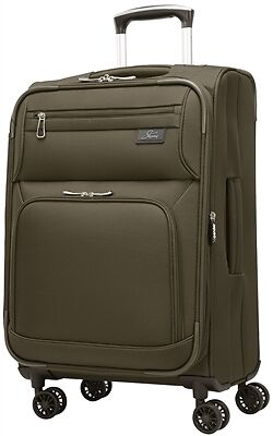 """Skyway Sigma 5.0 21"""" Expandable Spinner Carry-on Forest Green"""