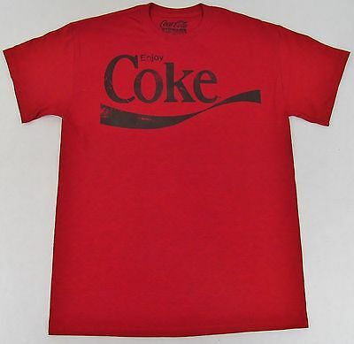 Vintage Enjoy COKE T-shirt Distressed Coca Cola Pop Art Soda Tee Adult SMALL New