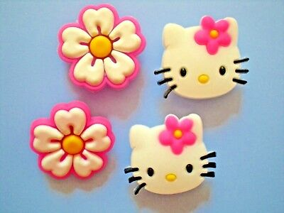 CLOG SHOE CHARM PLUGS 4 HELLO KITTY FIT WRISTBANDS FITBIT BELTS