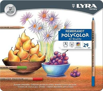 LYRA Rembrandt Polycolor Pencils Tin of 24 - Made In Germany