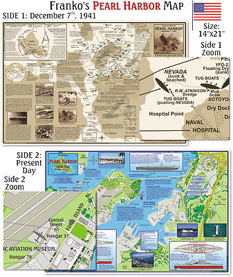 Franko Maps Pearl Harbor Map for  Snorkelers and Scuba Divers