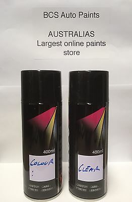 Car Touch Up Paint Spray Kit - 2 x Cans - FORD BLACK PEARL CODE B6/D6/16W