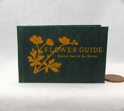 FLOWER GUIDE Illustrated Readable Book in 1:3 Scale Miniature Book