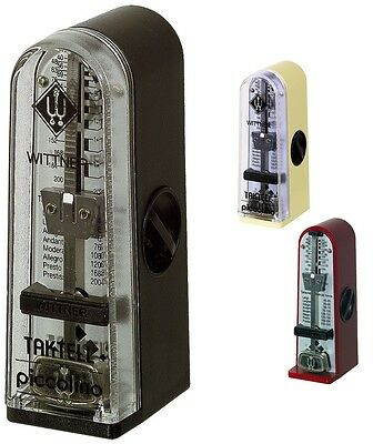 Wittner Metronome Taktell Piccolino Mechanical - made in Germany Red, Ivory, Blk