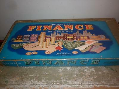 Vintage 1955 Parker Brother Finance & Fortune Board Game Wooden Pieces