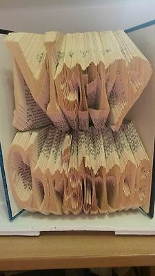 Merry Christmas Folded Book Art Folding PATTERN ONLY #064