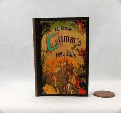 GRIMM'S FAIRY TALES Illustrated Readable Book in 1:3 Scale Book