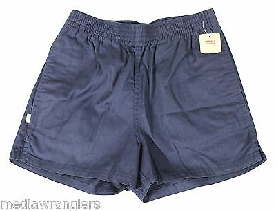"NEW VTG 80s LEVIS Navy Blue SHORT SHORTS 30"" Waist Youth Large Adult Small NWT !"