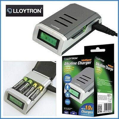 Lloytron Battery Charger Mains AA/AAA B1550 Ni-Mh Ni-Cd Fast Rechargeable Travel