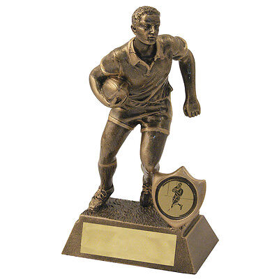 """Resin Male Rugby Figure Trophy 7"""" - Engraved F.O.C."""