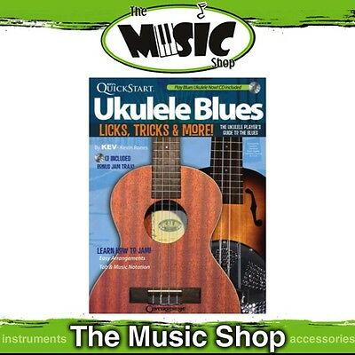 New Kev's Quickstart Ukulele Blues Music Tuition Book with CD