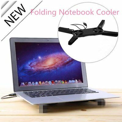 Folding colorful USB2.0 Laptop Notebook 2 Fans Cooler Cooling Pad P5