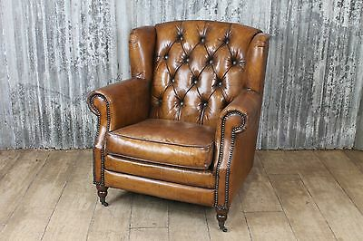 Vintage Retro Style Leather Studded Armchair The Berkeley