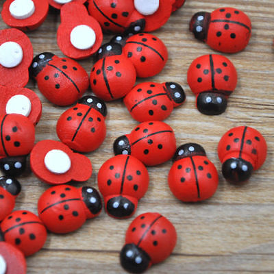 Ladybug Stickers Easter Decoration Cute Fridge  for Scrapbooking 12x15MM WB145