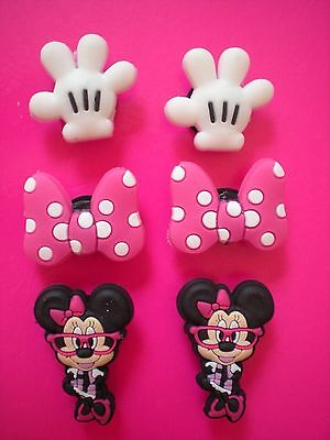 Clog Shoe Charm Plugs Kid Disney Accessories Minnie Mouse Pink Bows