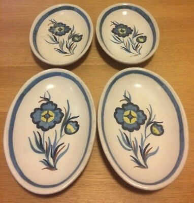 Buchan Pottery - 4 x Alpine M 1-287 - Ovenproof Oval Dish - Excellent condition