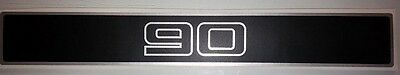 Land Rover DEFENDER 90 Front Grille Silver/Black Decal Logo Adhesives Sticker