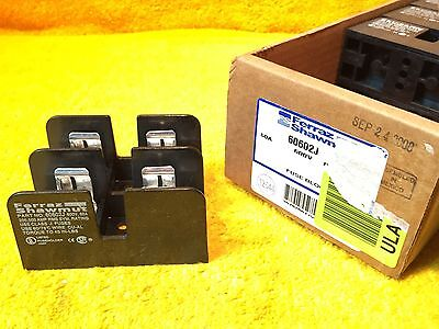 ***new*** Ferraz Shawmut 60602J 600 Volt 60 Amp 2-Pole Fuse Block Holder