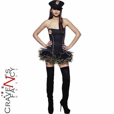Adult Sexy Tutu Police Uniform Ladies Fancy Dress Hen Night Costume Outfit