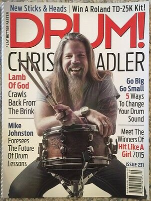 Drum Chris Adler Lamb Of God Mike Johnson September 2015 FREE SHIPPING