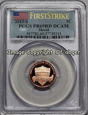 2013 S Lincoln Cent Penny Shield Proof Pcgs Pr69Rd Dcam  First Strike Pr 69  Fs