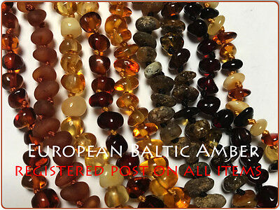 GENUINE BALTIC AMBER Teething Necklace, baby, toddler