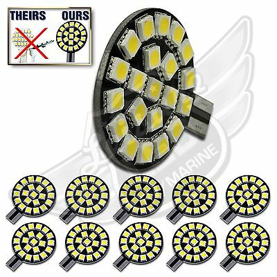 10X T10 T15 921 194 Nat/Neu White RV Trailer Interior 12V LED Light Bulbs 21SMD